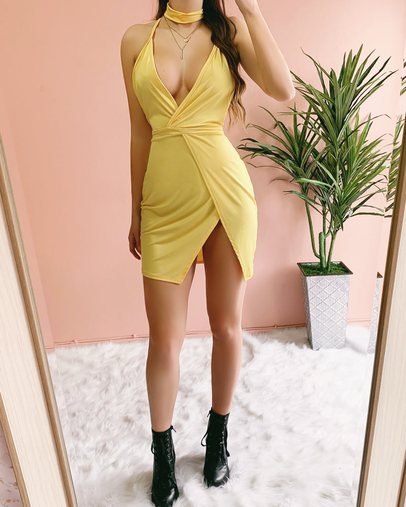 HOT GIRL SUMMER COVER UP DRESS (YELLOW)