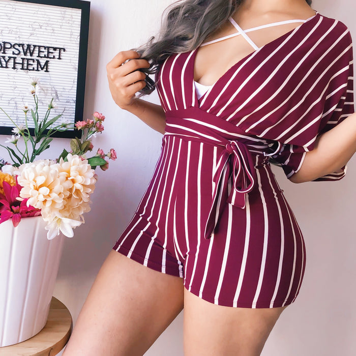 KIRA STRIPED ROMPER (SUNSHINE)