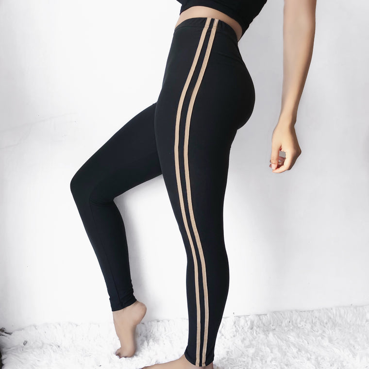 PRE-ORDER - SOFTEST LEGGINGS EVER (KHAKI/BLACK) - FULLY STOCKED