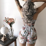 Jayden Lace Up Floral Set (SKY)