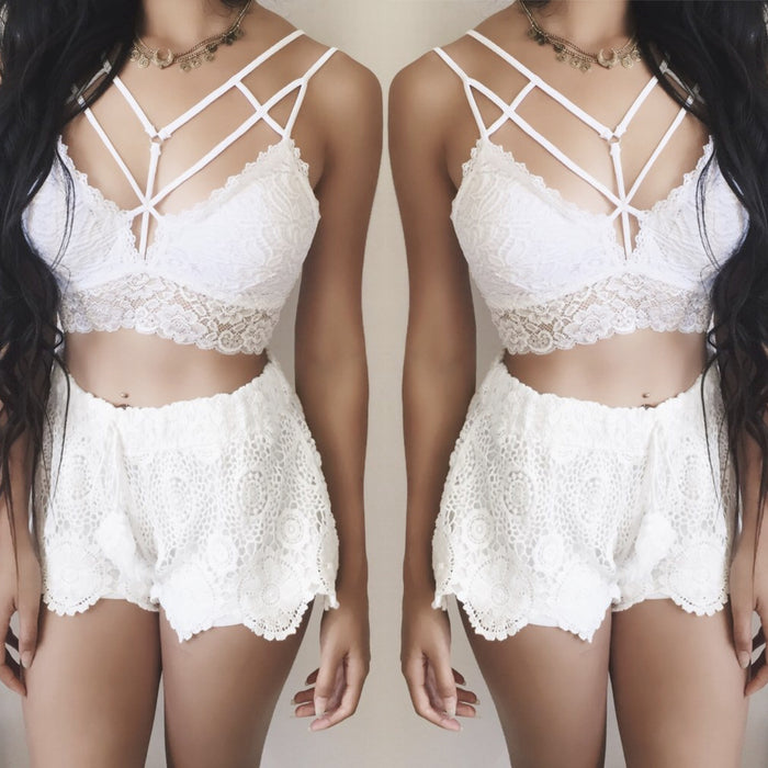 RESTOCKED! Celina Caged Lace Bralette (WHITE) - ALL SIZES