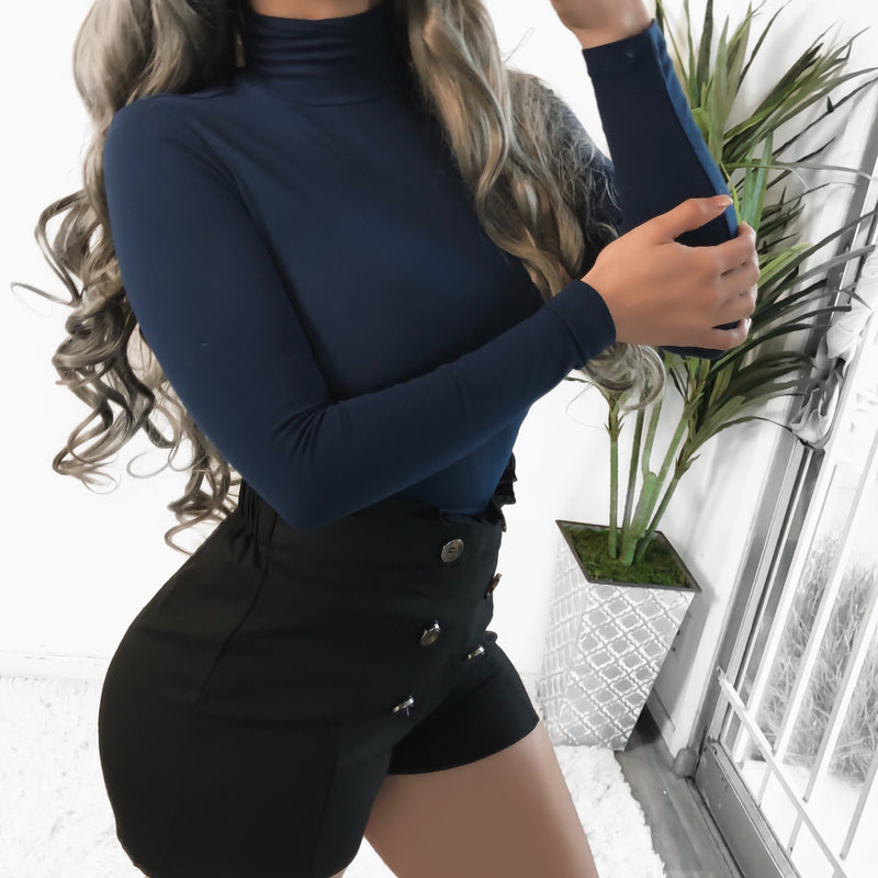 NEW COLOR! LIANE TURTLENECK TOP (NAVY) - ALL SIZES