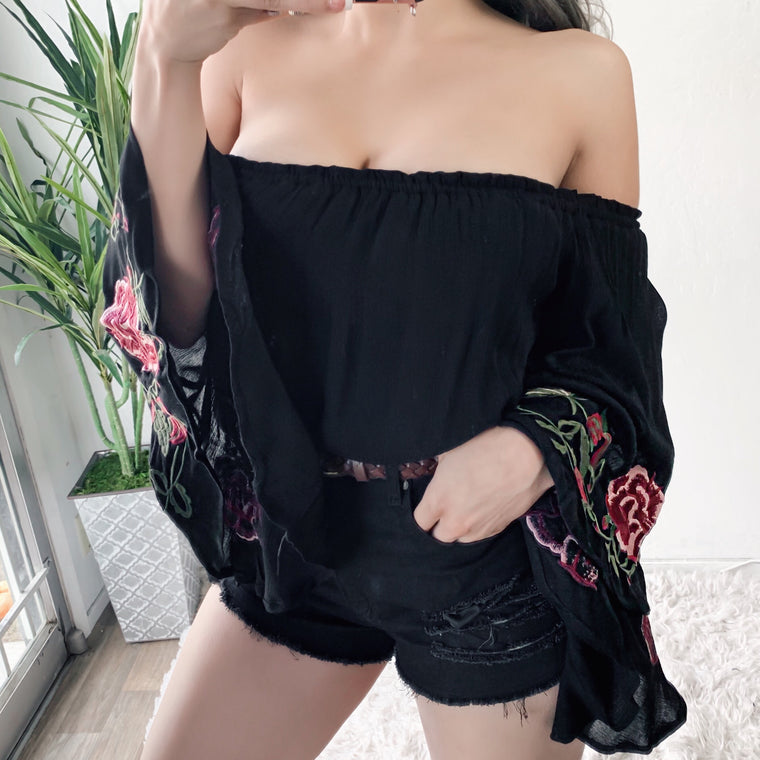 ROSIE BOHO TOP (BLACK)