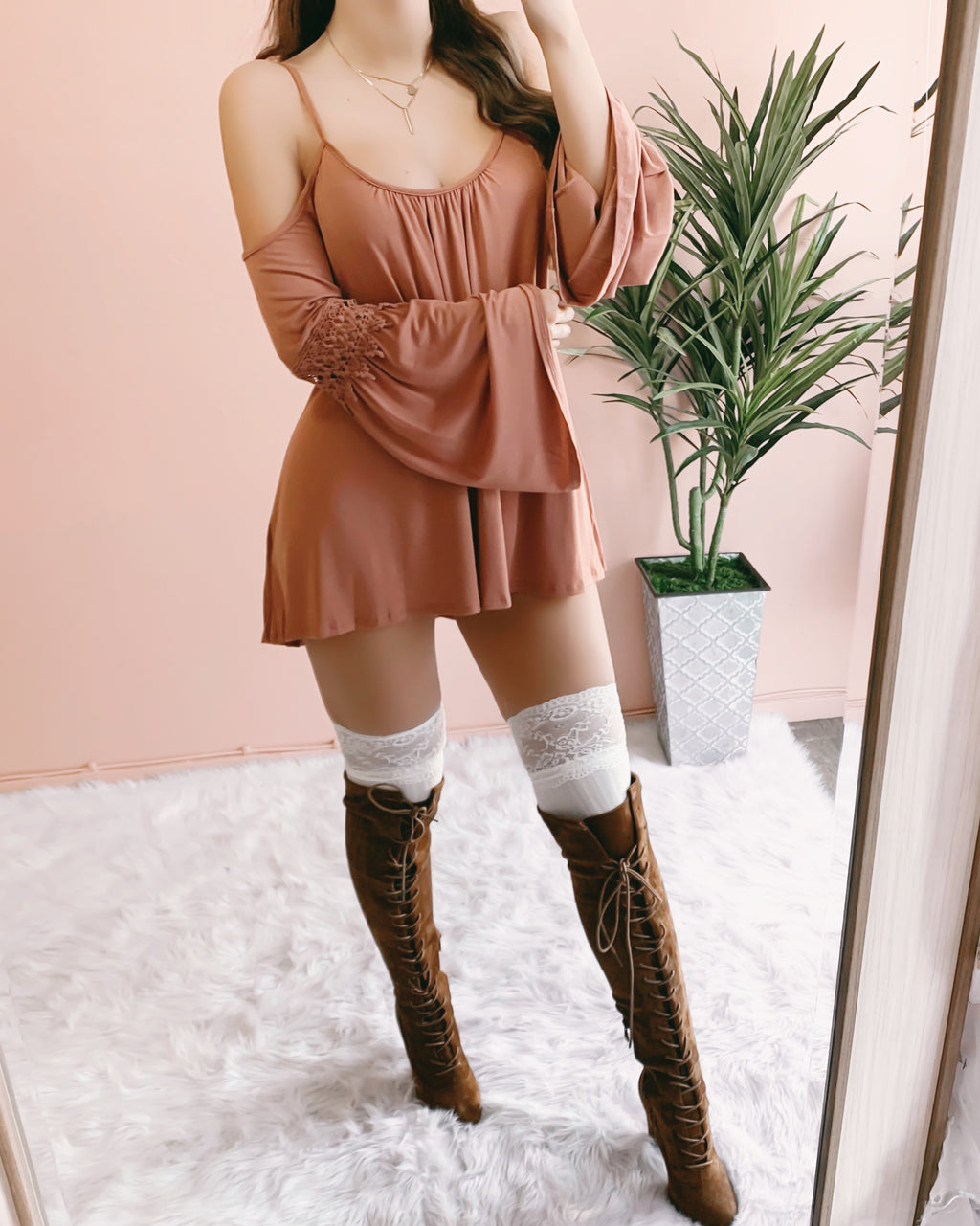BREANNA BOHO TOP/DRESS (BLUSH)
