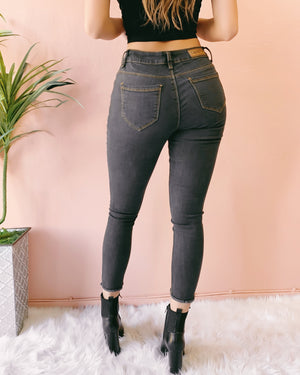 ALEXIS FADED GREY SKINNY JEANS