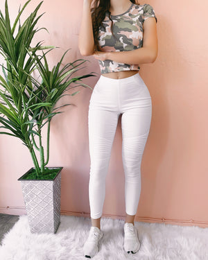 RESTOCKED! ON THE DAILY MOTO PANTS (WHITE)