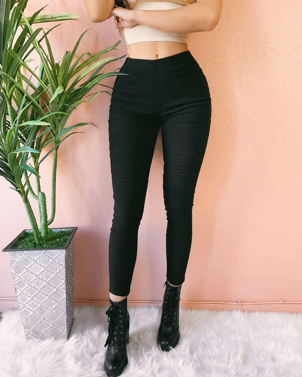 RESTOCKED! ON THE DAILY MOTO PANTS (BLACK)