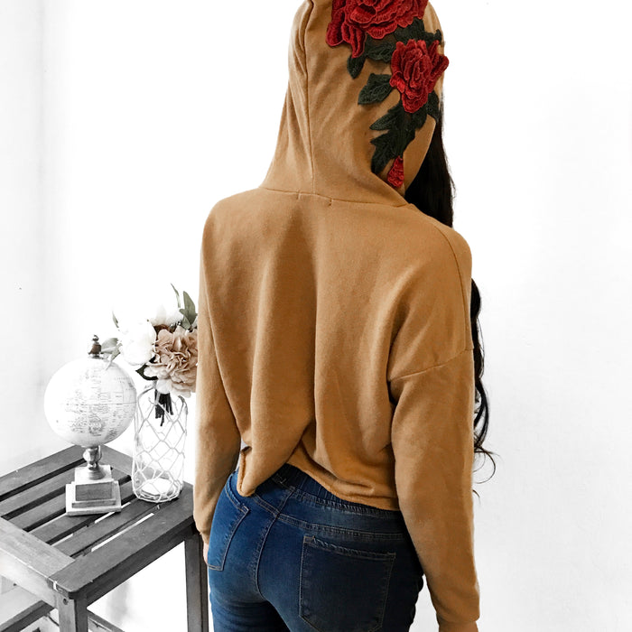 RESTOCKED - Rima Rose Hooded Sweater (BLUSH) - FULLY STOCKED
