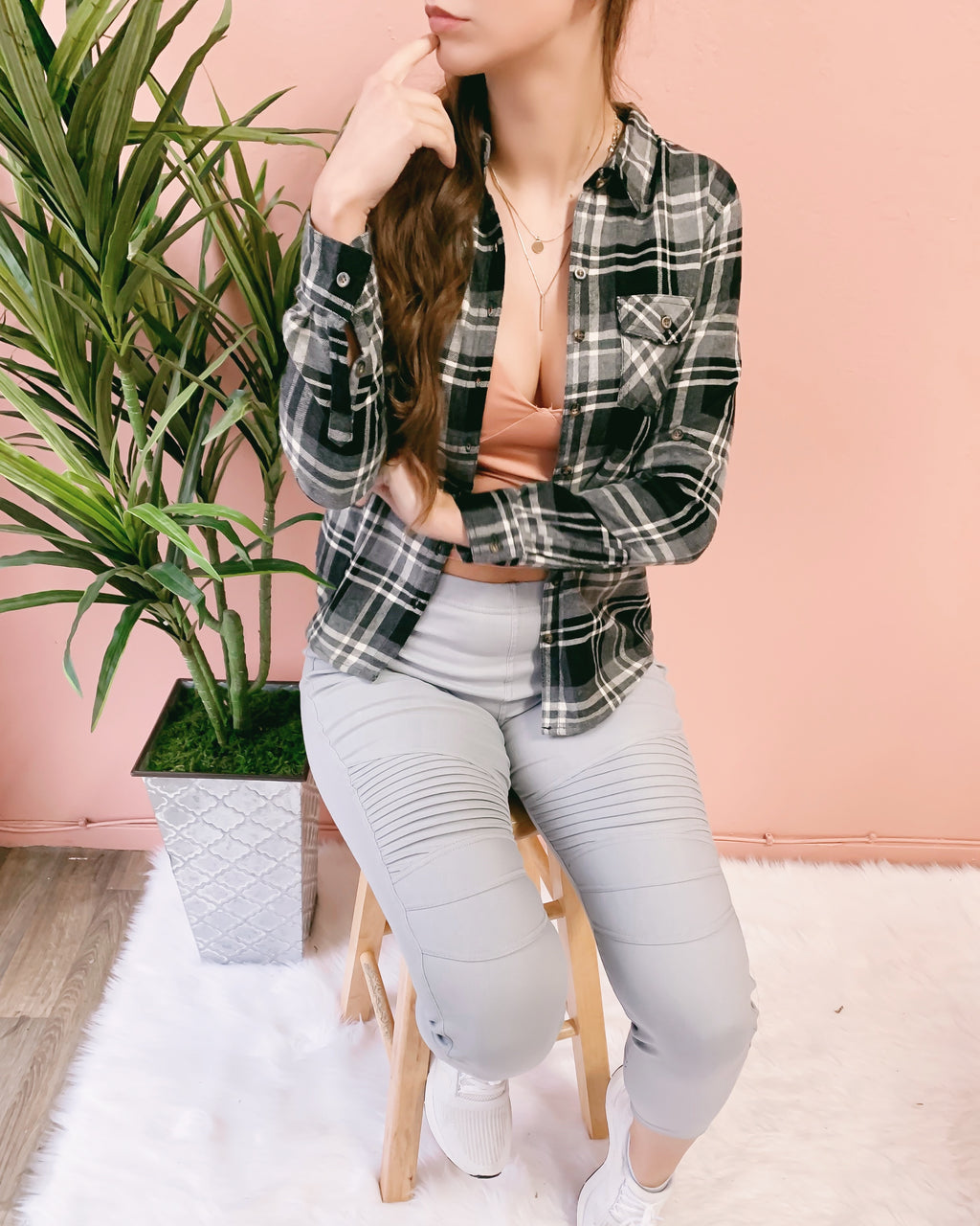 ALY PLAID FLANNEL