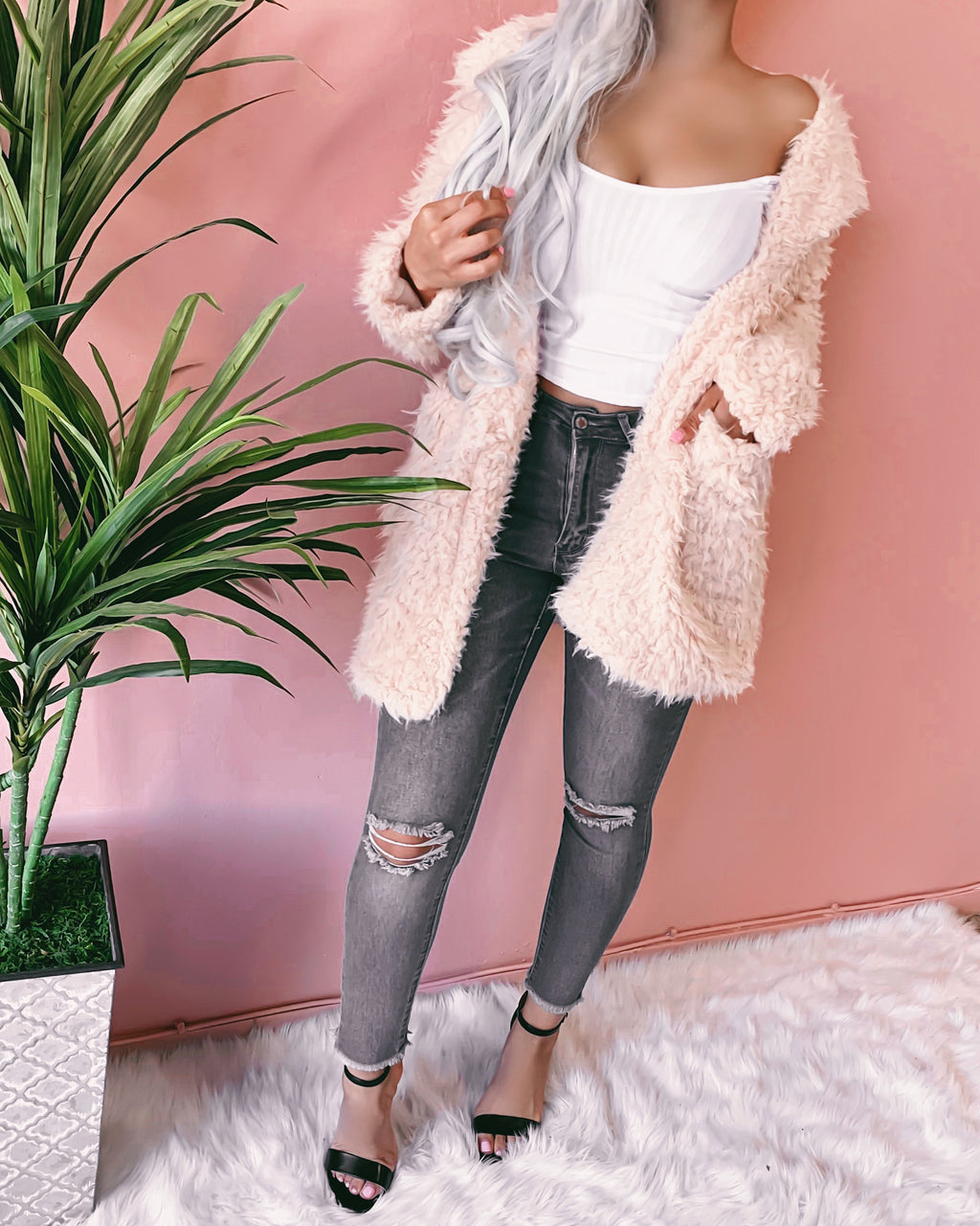 RESTOCKED! SUGAR BABY FUR COAT