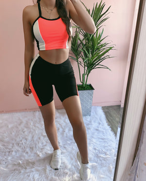 GYM LOVE SET (NEON CORAL)