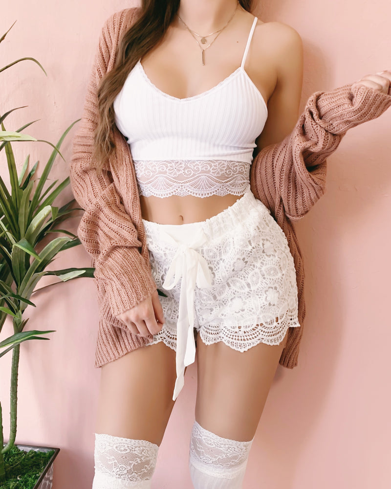 RESTOCKED! ELIANA CROCHET SHORTS
