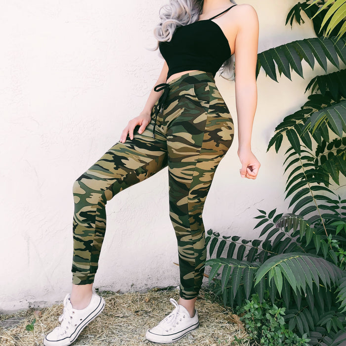 DRIZZY CAMO JOGGERS (TAN) - LARGE