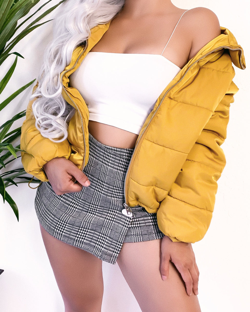HOTLINE BLING PUFFER JACKET (YELLOW)