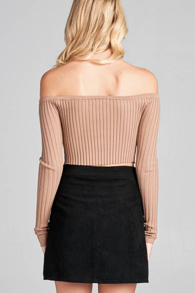 MONICA RIBBED TOP (WINE) - FULLY STOCKED