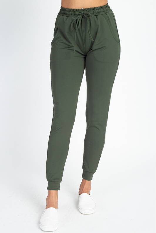 LAZY SUNDAY JOGGERS (OLIVE)