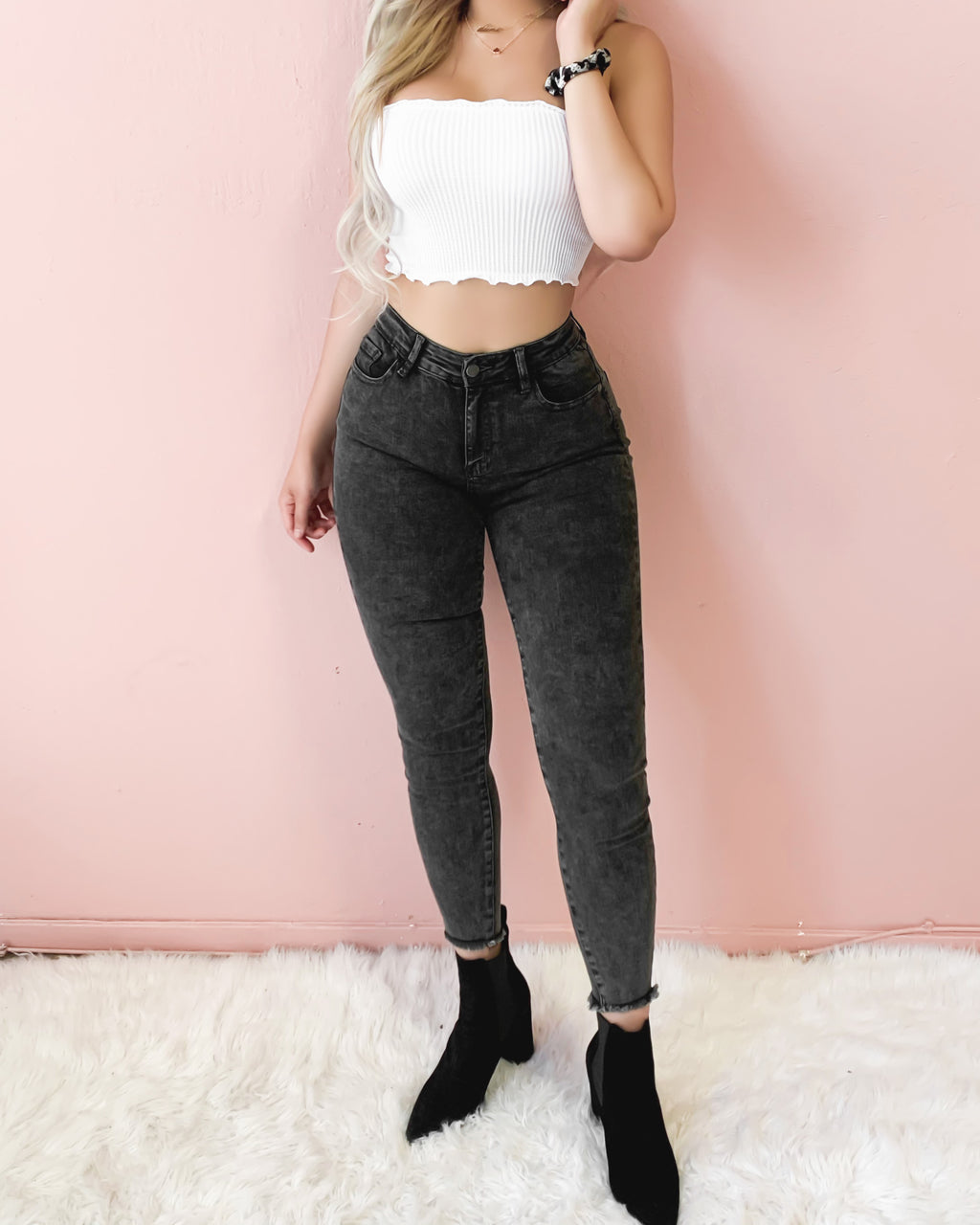 ALEXA HIGH WAISTED SKINNY DENIM JEANS