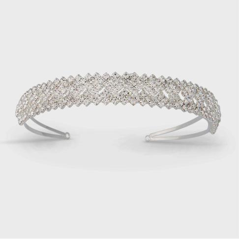 """The Eleanor"" Austrian Crystal Covered Headband - Sweet Heart Details"