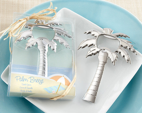 """Palm Breeze"" Chrome Bottle Openers (set of 24) - Sweet Heart Details"