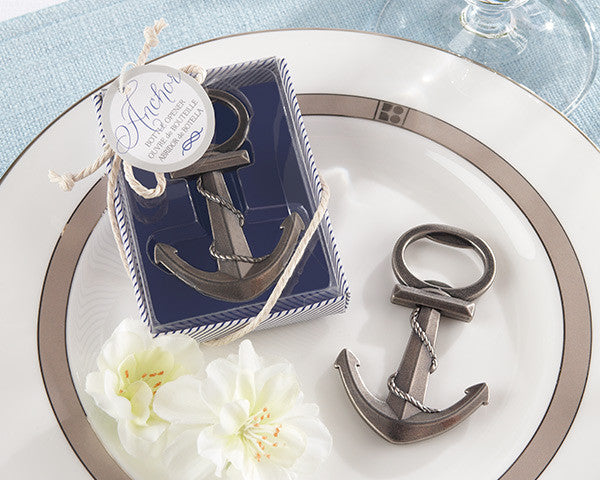 """Anchor"" Nautical-Themed Bottle Opener-Wedding Favors & Favor Holders-Kate Aspen-Sweet Heart Details"