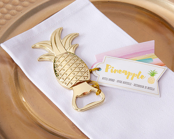 Gold Pineapple Bottle Openers - Sweet Heart Details