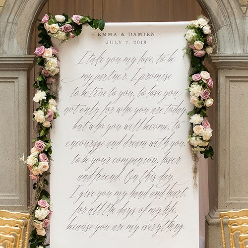 Modern Fairy Tale Personalized Premium Canvas Backdrop - Sweet Heart Details