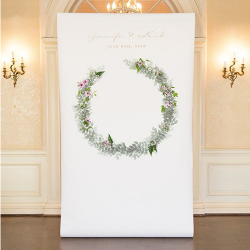 Love Wreath Personalized Premium Canvas Backdrop - Sweet Heart Details