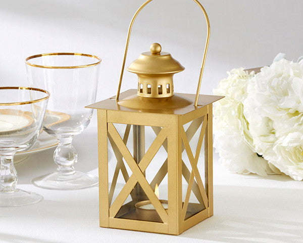 Classic Gold Lanterns (10 or 36)-Wedding Decorations-Kate Aspen-Sweet Heart Details