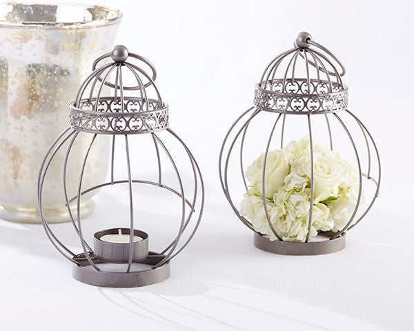 Vintage Bird Cage Lanterns (sets of 5 or 12)-Wedding Decorations-Kate Aspen-Sweet Heart Details
