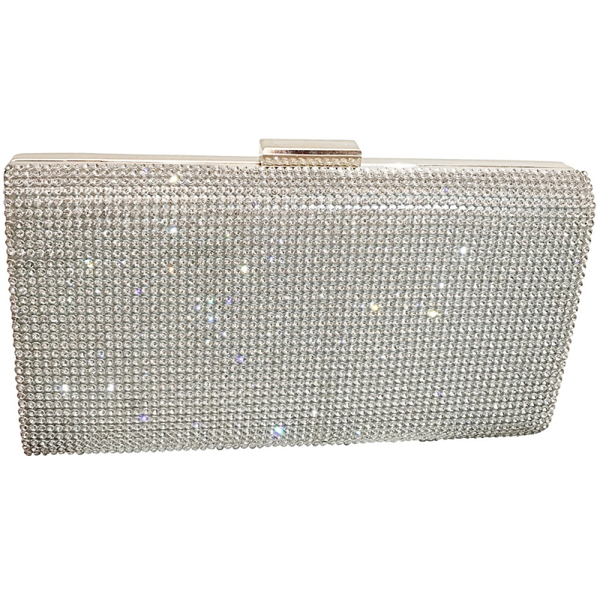 """The Crystal Elegance"" Evening Bag Clutch - Sweet Heart Details"