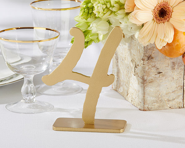 """Good As Gold"" Classic Table Numbers (12) - Sweet Heart Details"