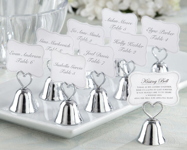 """Kissing Bell"" Place Card/Photo Holders"