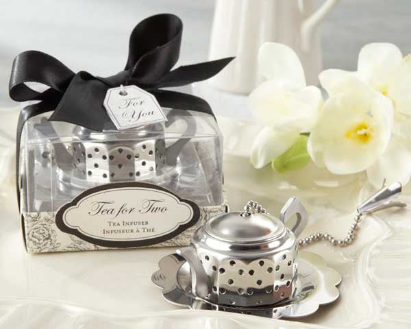 """Tea for Two"" Teapot Tea Infuser (set of 10) - Sweet Heart Details"
