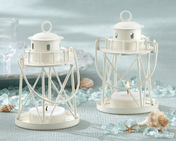 """By the Sea"" Lighthouse Tealight Candle Holders-Wedding Decorations-Kate Aspen-Sweet Heart Details"