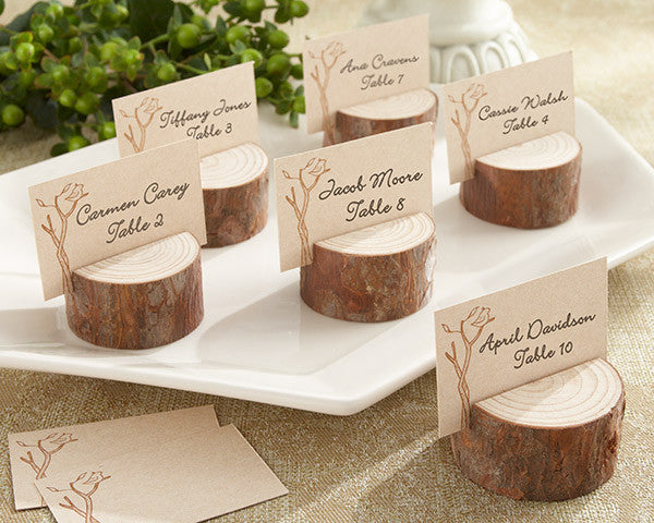 Rustic Real-Wood Place Card/Photo Holders - Sweet Heart Details