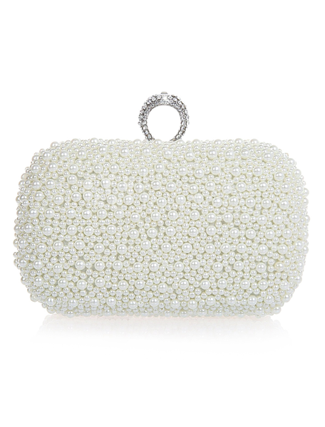 Diamonds and Pearls Bridal Clutch-Bags-Milanoo-22100440785-Sweet Heart Details