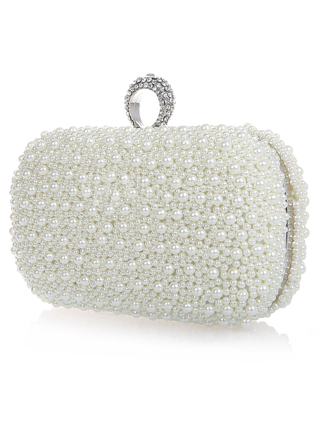 Diamonds and Pearls Bridal Clutch - Sweet Heart Details