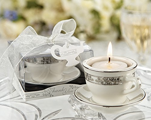 Teacups and Tealights Miniature Porcelain Tealight Holders-Wedding Favors & Favor Holders-Kate Aspen-Sweet Heart Details
