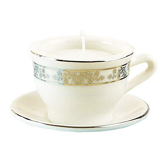 Teacups and Tealights Miniature Porcelain Tealight Holders - Sweet Heart Details