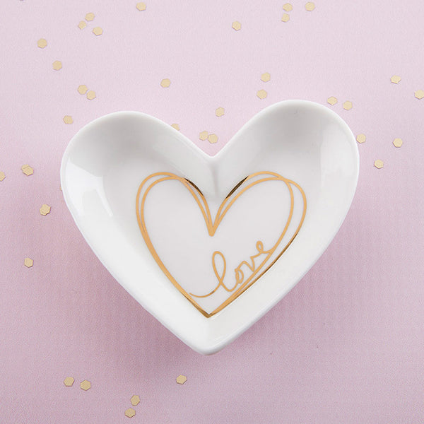 Heart Shaped Trinket Dishes - Sweet Heart Details