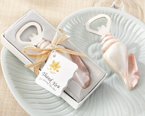 """Shore Memories"" Sea Shell Bottle Openers - Sweet Heart Details"