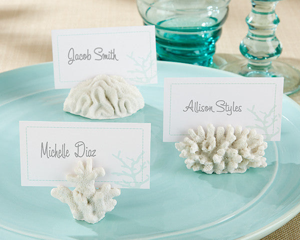 """Seven Seas"" Coral Place Card/Photo Holders"