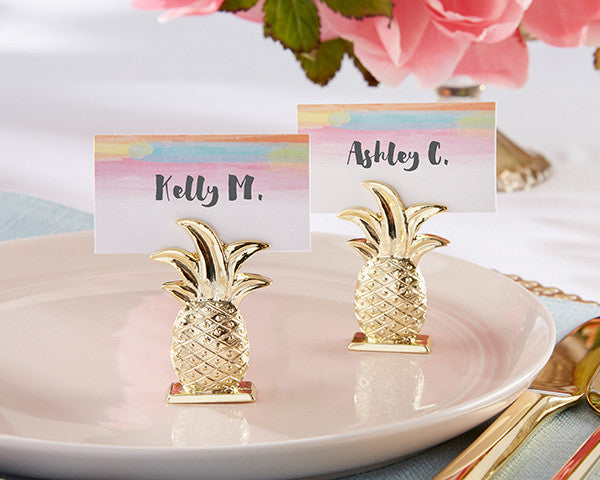 Gold Pineapple Place Card Holders