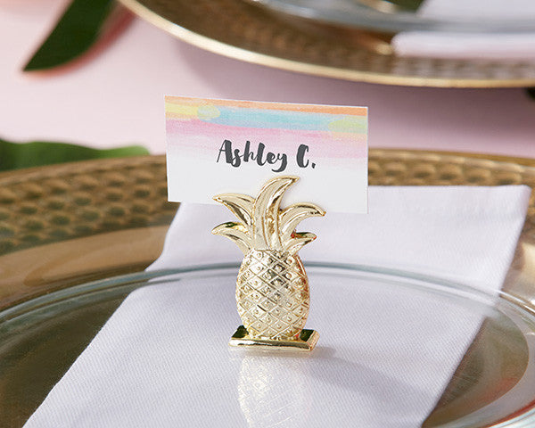 Gold Pineapple Place Card Holders - Sweet Heart Details
