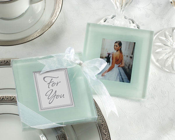 Forever Photo Frosted Glass Coasters (10 sets of 2)