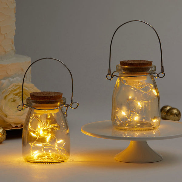 Hanging Jar With Fairy Lantern Lights (Set of 20) - Sweet Heart Details