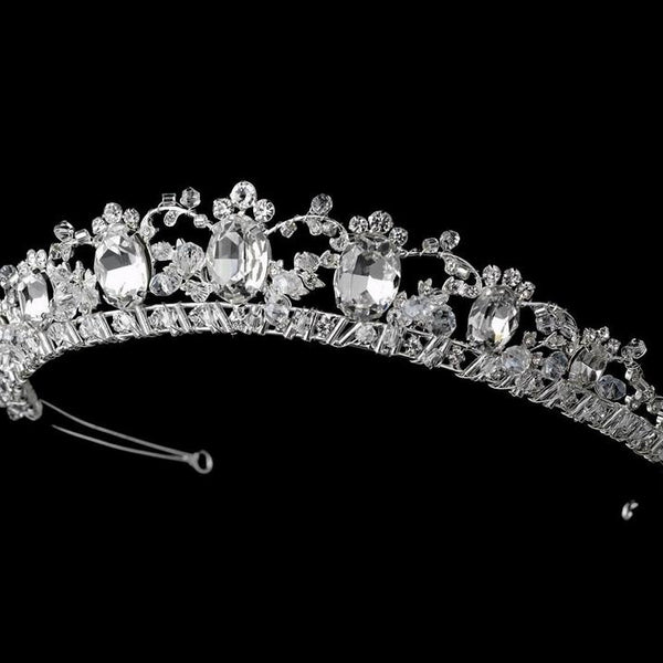 """The Catherine"" Royal Rhinestone Princess Tiara - Sweet Heart Details"