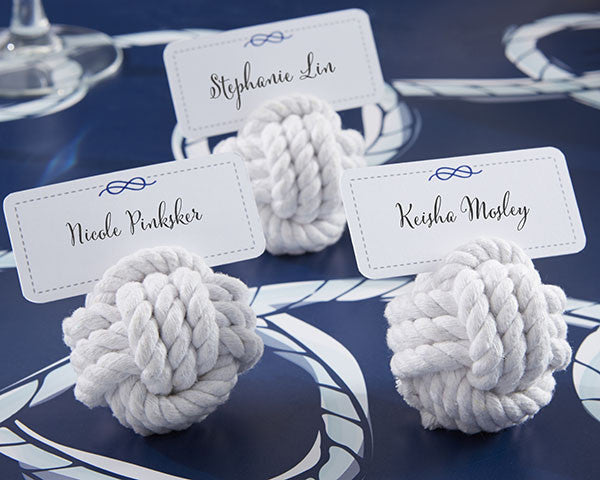 Nautical Cotton Rope Place Card Holders-Placecard Holders-Kate Aspen-Sweet Heart Details