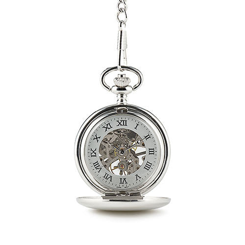 Personalized Mechanical Pocket Watches (six)-Groomsmen Gifts-Wedding Star-Sweet Heart Details