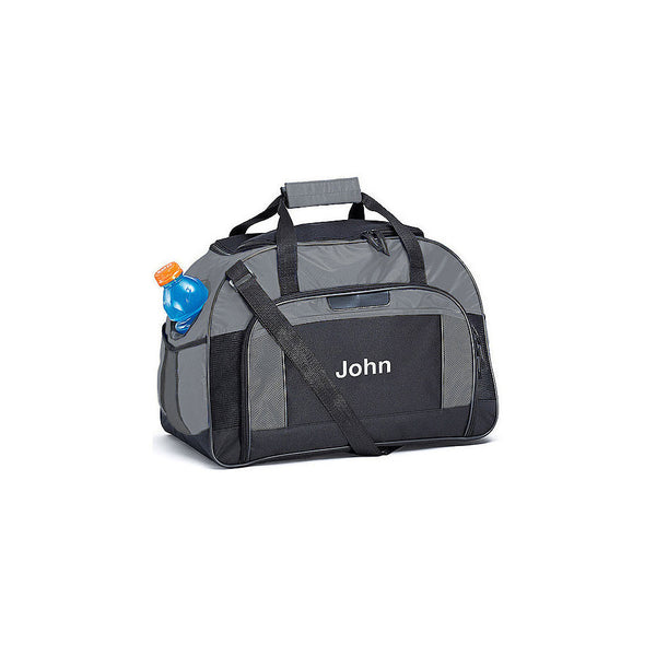 Men's Personalized Sports Bag (Blue/Gray)